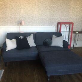 Ikea Stocksund dark grey 3Seat Sofa, Armchair & Footstool, great condition!