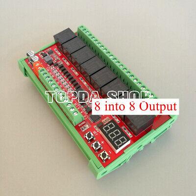 Modbus Rtu 8-way Serial Port Rs485 Relay Module Optocoupler Isolation