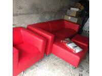 red corner sofa brand new!