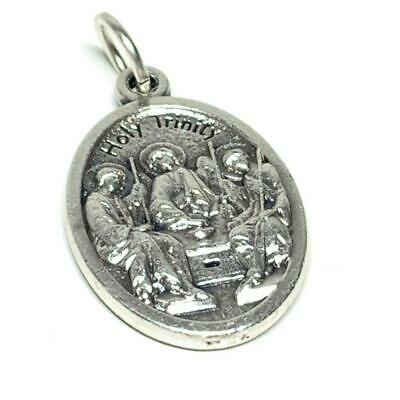 Antique silver plated charm religious medal pendant Our Lady of Perpetual Help ref 2215 St Alphons M Liguori