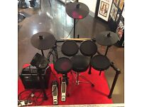 *LIKE NEW* Alesis Nitro 8-piece Electric Drum Kit + Roland PM 10 30 Watt Amp + stool, sticks & leads
