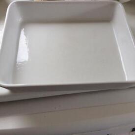 "Lasagne/crumble/casserole dishes 13"" x 11"" x 2.5 deep x 80 x 130 x 6 cm deep"