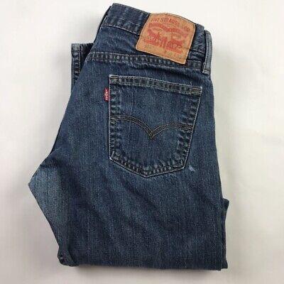 Levis 514 Mens Classic Straight Jeans Blue Pocket Dark Wash Denim Pants 30 x 32