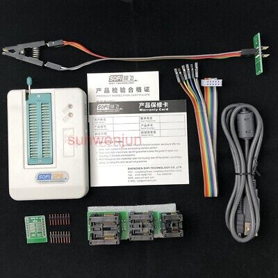 Usb Bios Universal Sp8-a Programmer Full Pack Flasheepromspi With Test Clip