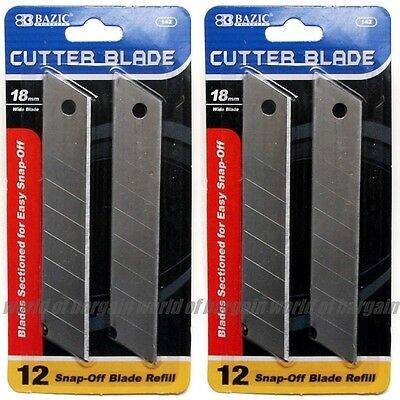 24 pcs Cutter Blade 18mm Snap Off Box Utility Knife Razor Refill Replacement T17 Snap Off Blade Box Cutter