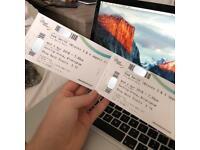 2X Sam Smith Tickets VIP Area (Showdeck)