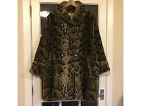 Selfridge's faux-fur coat ladies size 14