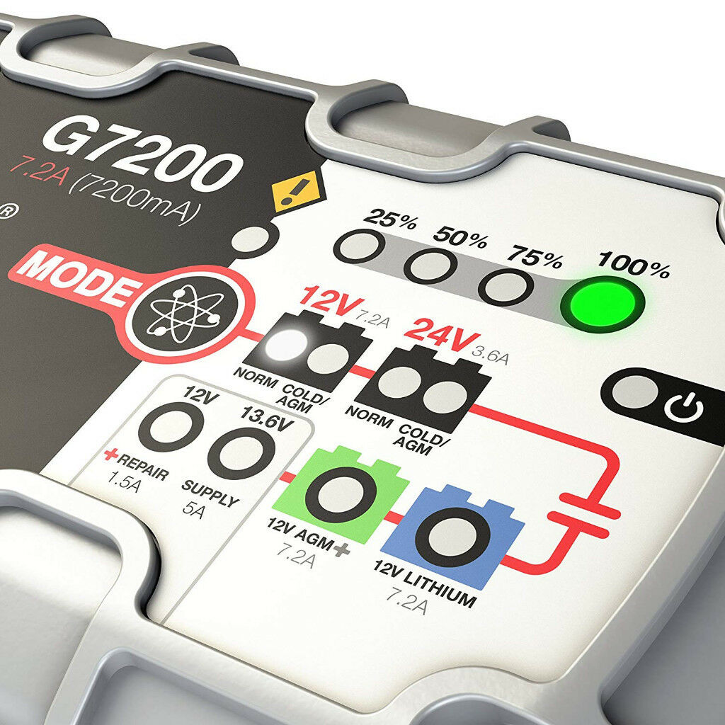 Noco Genius G7200 Smart Battery Charger For All Types 72 Amp Or 15a Maintenance Charging