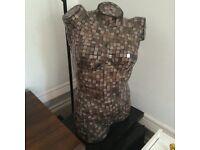 Stunning mosaic bust lamp