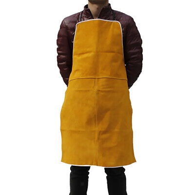Welder Apron Welding Lathe Protective Gear Apparel Cowhide Leather Apron Orange