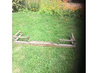 Antique oak extendable fire fender