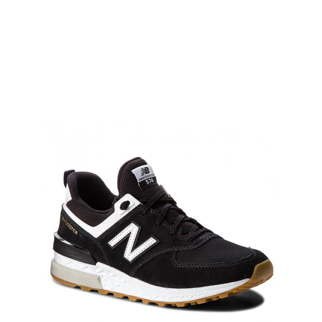 NEW BALANCE SCARPE SNEAKERS MS574FCB NERO BLACK UOMO MAN NUOVE ORIGINALI