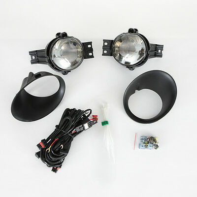 For 2003-2008 Dodge Ram SMOKE Fog Driving Light Assembly w/Switch w/Bulb w/Bezel