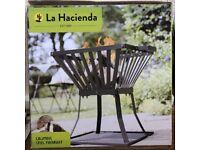 La Hacienda Fire Pit Steel Fire Basket