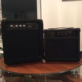 Bass guitar and guitar amplifiers for £30g