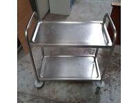 Vogue aluminium catering trolley
