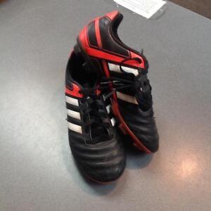 Adidas soccer cleats -size 2- black/white/orange (sku: 72L675)