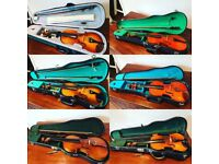 Collection Of violins.