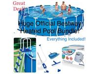 HUGE! 18ft x 4ft Bestway Pool Bundle! Everything included cheap!