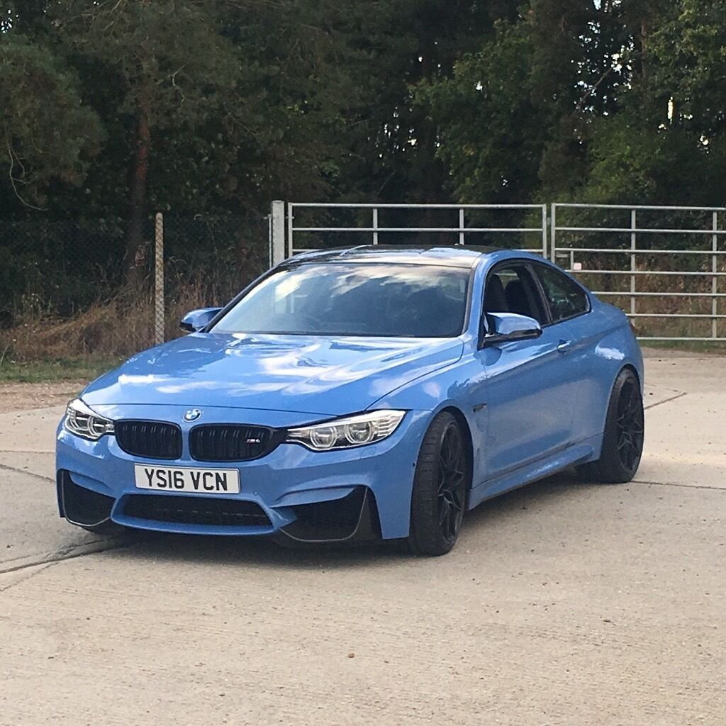 Yas Marina Blue Bmw M4 Competition Package In