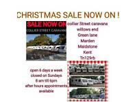 2 4 5 6 berth fixedbed twinaxle caravans Maidstone Kent
