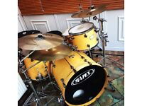 "Mapex Orion Maple 22"" Bass, 16"" Floor Tom 12"" and 13"" Toms"