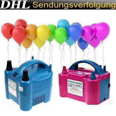 Luftballonpumpe Aufblasgerät 600/680W Elektrische Ballonpumpe Luftballon Pumpe ()