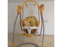 Graco swing (separates as bouncer), various speed settings and music