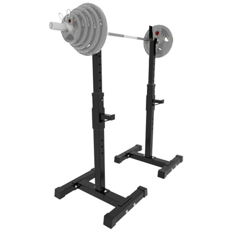 Squat Rack Adjustable Bench Press Weight Exercise Barbell St
