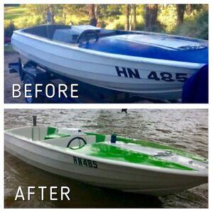 "Fibreglass Boat Repairs, ""TJM"" Croydon Maroondah Area Preview"
