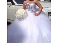 White Swarovski wedding dress
