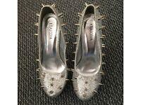 Brand new silver heels