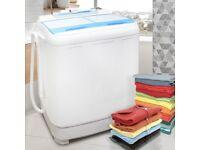 7.2kg Twin Tub Washing Machine Mini Portable Spin Dryer Electric Drainage Pump