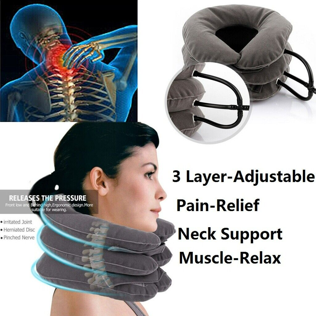 air pillow cervical neck head pain traction
