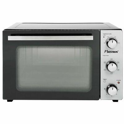 Bestron Grill Backofen 1500W 31L Minibackofen Pizzaofen Miniofen Umluftofen