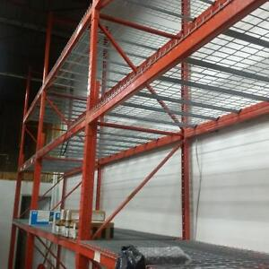 Large stock of new wire mesh deck for pallet racking