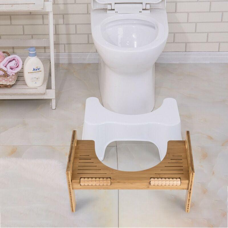 adjustable bamboo squatty potty toilet stool portable