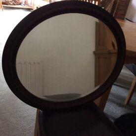 Hardwood framed mirror