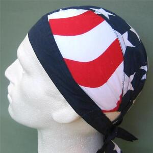 Stars And Stripes Fitted Bandana Red White Blue Usa