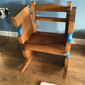 Solid wood childrens rocking chair