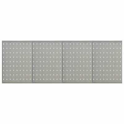 34x Wall-mounted Peg Board Steel Tool Holder Panel Organizer Workshop Gray