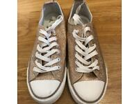 Sparkly Rose Gold Converse