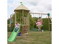 Weekend Offer!!! TP Castlewood Kennilworth Wooden Swing Set & Slide - RRP £620