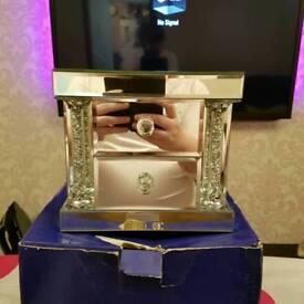 Royal Crest Mirror Jewellery Box