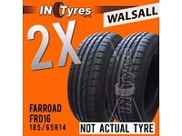 2x New 185/65R14 BUDGET Tyres Fitting is Available