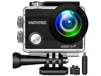 Action Camera FHD 1080P 12MP Underwater Cam WiFi Sports Camera, Waterproof 2 Rechargeable Batteries