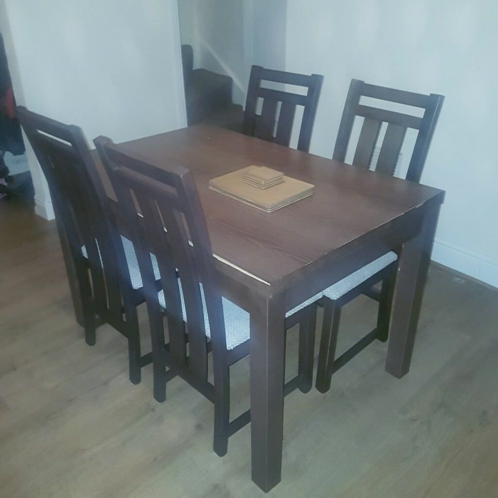 Oak Dining Table And 4 Chairs In Ilkeston Derbyshire