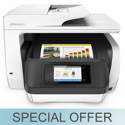 HP OfficeJet Pro 8725 All in One Digital Wireless Printer Scanner and Fax - NEW!