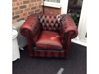 Chesterfield chair oxblood colour