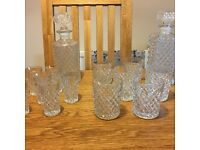 7 piece Whisky/spirit Decanter & Glasses Set